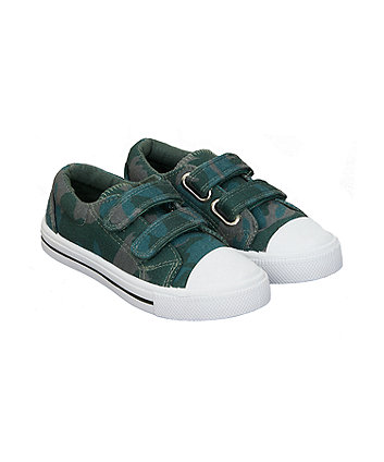 Mothercare Green Camo Trainers
