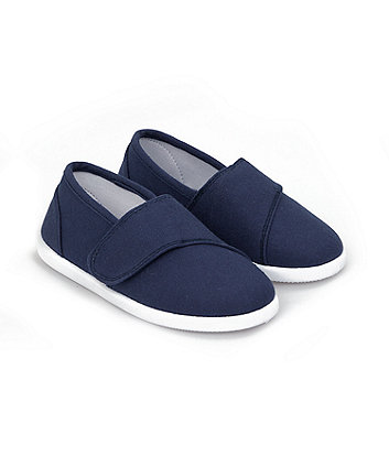Mothercare Navy Canvas Pumps