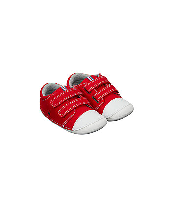 Red Canvas Crawler Shoes
