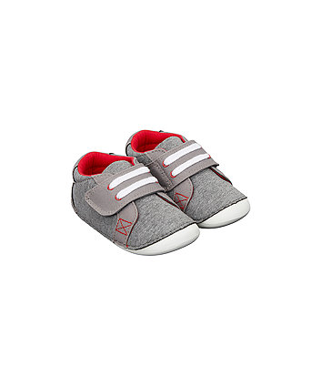 Mothercare Grey Marl Crawler Shoes