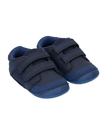 Mothercare Navy Sporty Crawler Trainers