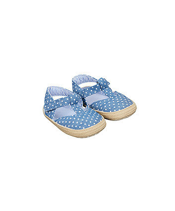 Polka Dot Sandal Pram Shoes
