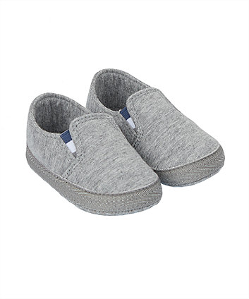 Mothercare Grey Marl Pram Shoes