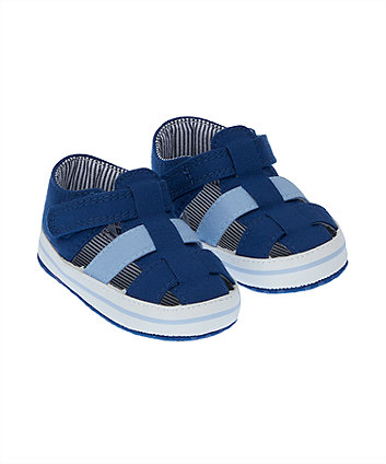 Navy Sandal Pram Shoes