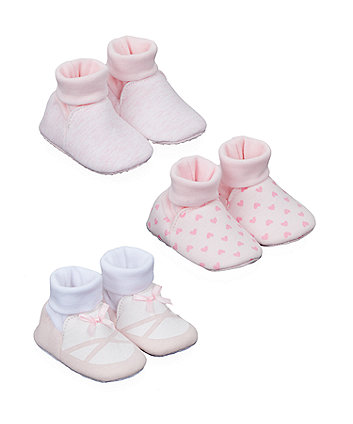Mothercare My First Pink Socktop Booties