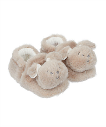 Mothercare Fluffy Puppy Slippers