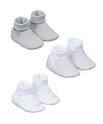 Mothercare My First Blue Socktop Booties