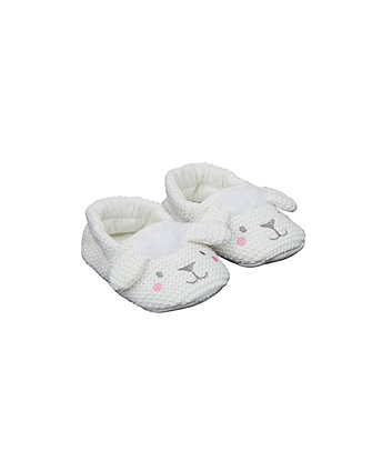 Mothercare Knitted Sheep Slippers