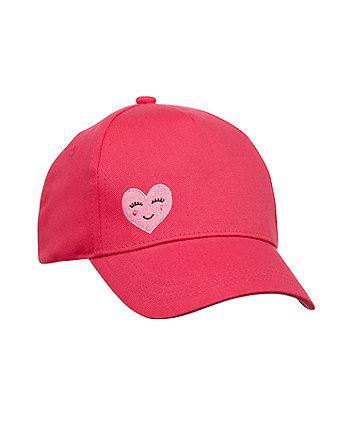 Mothercare Hot Pink Heart Cap