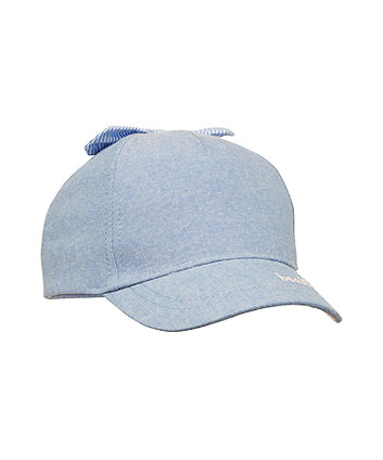 Mothercare Blue Chambray Bow Cap