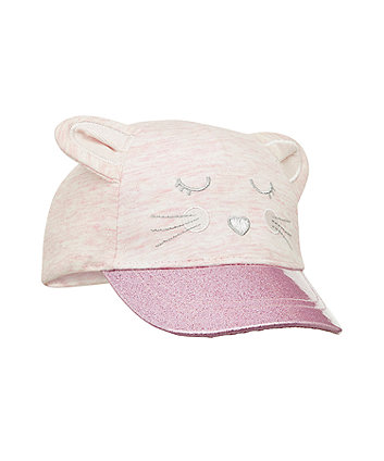 Mothercare Pink Mouse Glitter Cap