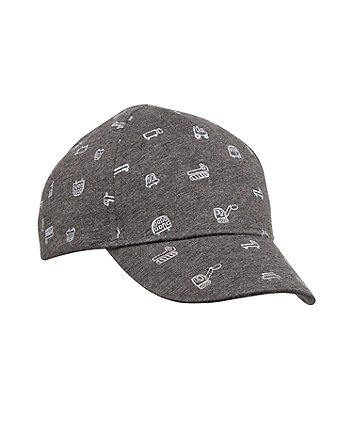 Mothercare Back To Nursery Grey Vehicle Cap