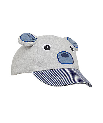 Mothercare Grey Bear Cap