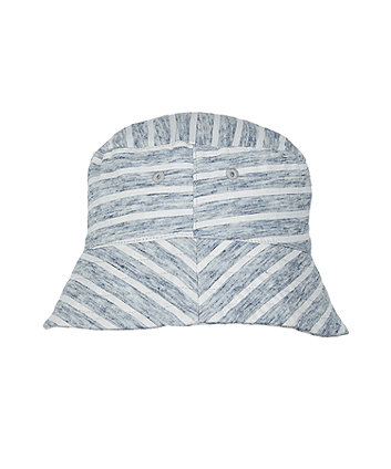 Mothercare Grey Striped Fisherman Hat