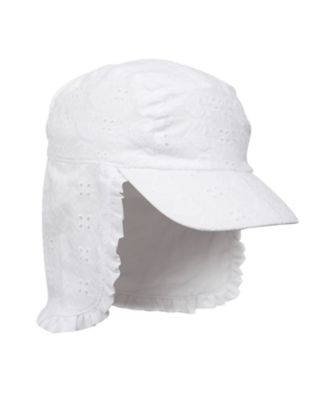 Mothercare White Broderie Keppi Hat