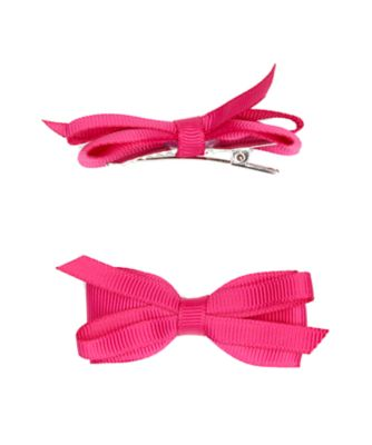 Mothercare Pink Ribbon Clips - 2 Pack