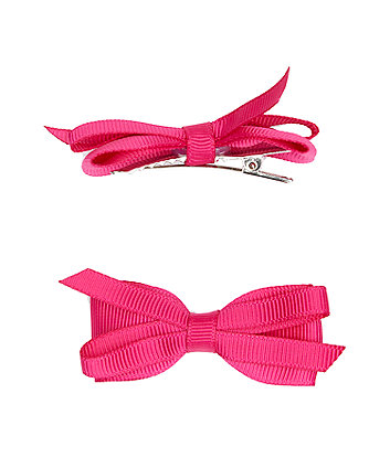 Pink Ribbon Clips - 2 Pack