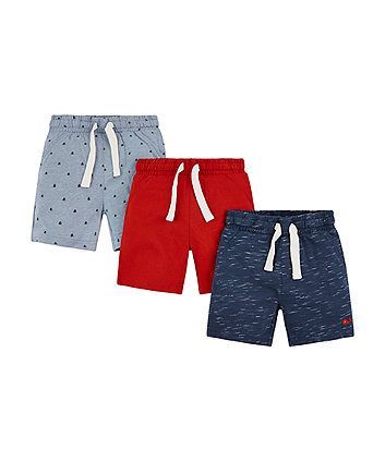 Blue Sailing Boat Shorts - 3 Pack