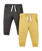 Mothercare Yellow And Grey Joggers - 2 Pack
