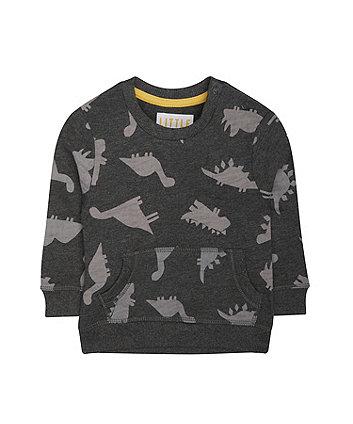 Mothercare Grey Roarsome Dinosaur Sweat Top