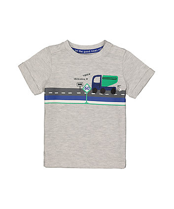 Mothercare Truck Grey T-Shirt