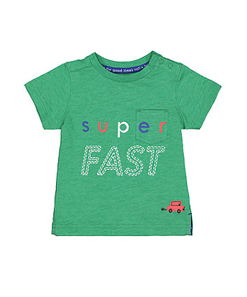 Mothercare Super Fast Green T-Shirt