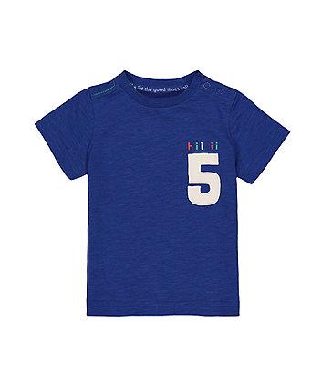 Mothercare Blue Hi Five T-Shirt