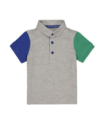 Mothercare Universal Navcy Grey Coloured Short Sleeve Polo Shirt