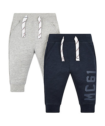 Mothercare Navy And Grey Joggers