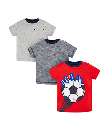 Mothercare Goal T-Shirts - 3 Pack