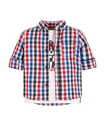Mothercare Sport Star Shirt And T-Shirt Set