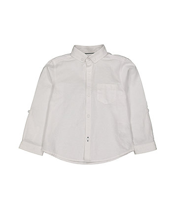 Mothercare White Oxford Shirt