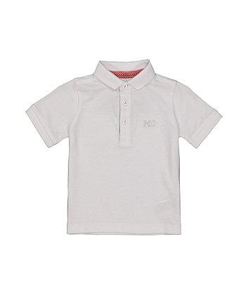 Mothercare White Polo Shirt