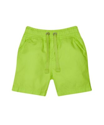 Mothercare Caribbean Dream Lime Poplin Shorts