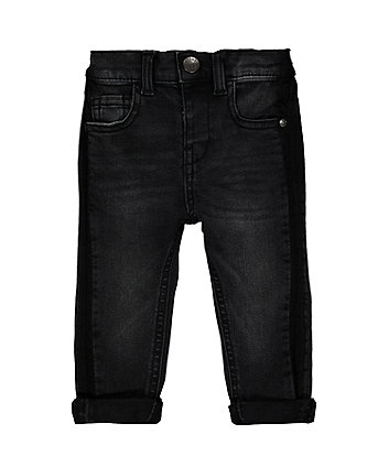 Grey Tonal Stripe Jeans