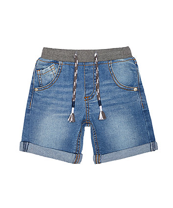 Mothercare Light-Wash Denim Shorts