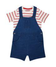 Bibshorts And Striped T-Shirt Set