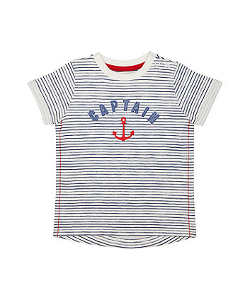 Mothercare Striped Captain T-Shirt