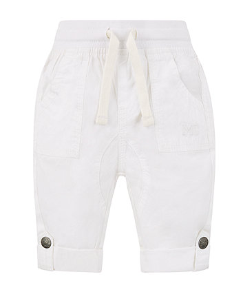 Mothercare White Convertible Trousers