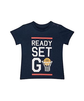 Mothercare Navy Basketball T-Shirt