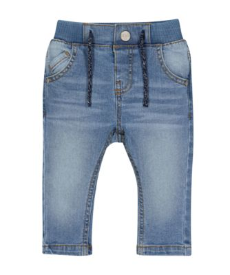 Mothercare Rib Waist Mid-Wash Denim Jeans