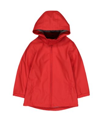 Mothercare Red Coated Jersey Lined Mac
