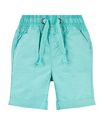 Mothercare Turquoise Poplin Shorts