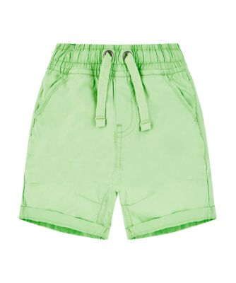 Mothercare Sunny Cove Green Poplin Shorts