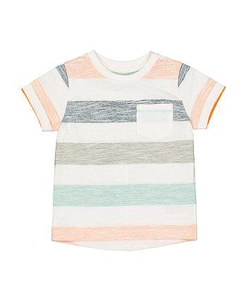 Mothercare Block Striped Pocket T-Shirt