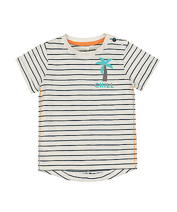 Mothercare Stripe Chill Palm Tree T-Shirt