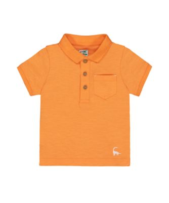 Mothercare West Coast Orange Polo Short Sleeve Shirt