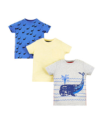 Mothercare Whale Hello T-Shirts – 3 Pack