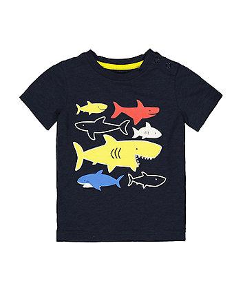 Mothercare Navy Fish T-Shirt