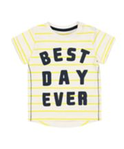 Mothercare Stripe Best Day Ever T-Shirt